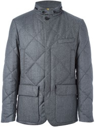 Canali Quilted Waterproof Jacket Grey