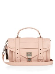 Proenza Schouler Ps1 Tiny Leather Cross Body Bag Light Pink