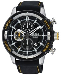 Pulsar Men's Chronograph On The Go Black Silicone Strap Watch 47Mm Pm3053