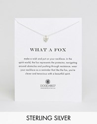 Dogeared Sterling Silver What A Fox Reminder Necklace Silver