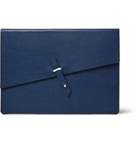 Miansai Rope Trimmed Full Grain Leather Portfolio Blue