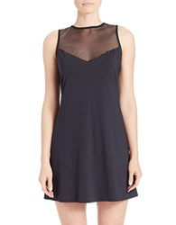 Vince Camuto Luxe Mesh Jersey Cover Up Dress Black