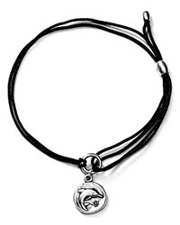 Alex And Ani Dolphin Kindred Cord Bracelet Black Rafaelian Silver