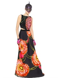 Manish Arora Sequined And Printed Crepe Gown