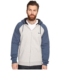 Quiksilver Block Outback Sherpa Zip Sweatshirt Light Grey Heather Men's Sweatshirt Gray