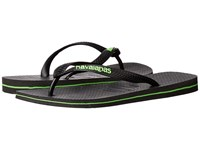 Havaianas Logo Filete Flip Flops Black Neon Green Men's Sandals