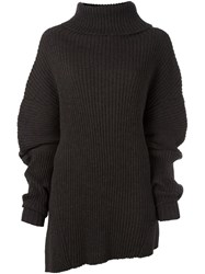Ann Demeulemeester Ribbed Turtleneck Jumper Brown