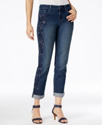 Styleandco. Style Co. Embroidered Cropped Jeans Only At Macy's Hurricane