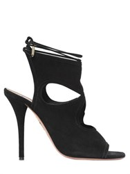Aquazzura 105Mm Sexy Thing Suede Lace Up Boot