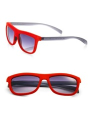 Italia Independent Velvet Square Sunglasses Red