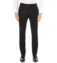 Joseph Dash Regular Fit Tapered Wool Flannel Trousers Black