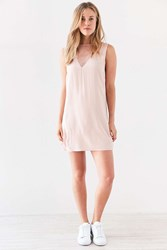 Silence And Noise Mesh Shift Mini Dress Pink