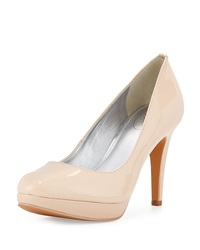 Circa Joan And David Pearly Patent Leather Pump Porcelain
