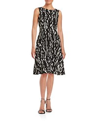Nipon Boutique Printed A Line Dress Black Vanilla
