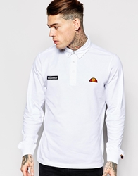 Ellesse Polo Shirt With Long Sleeves White