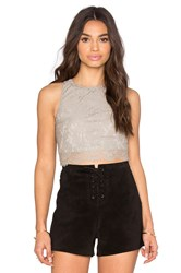 Show Me Your Mumu Elizabeth Crop Top Taupe