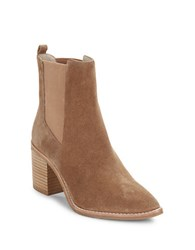 Kenneth Cole Jenni Mid Calf Suede Boots Tan