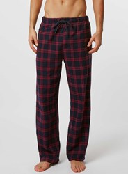 Topman Purple Check Pyjama Bottoms