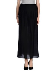 Pinko Grey Long Skirts Black