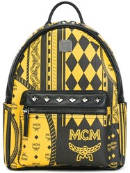 Mcm Diamon Print Backpack Black