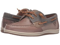 Sperry Songfish Waxy Canvas Taupe Women's Lace Up Moc Toe Shoes