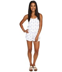 Spiritual Gangster Ruffle Romper Pineapple Batik Women's Jumpsuit And Rompers One Piece White