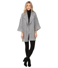 Mavi Jeans Long Cardigan Light Grey Melange Women's Sweater Gray