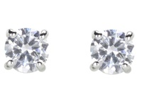 Lauren Ralph Lauren Cubic Zirconia Stud Medium 1.8Ct Silver Crystal Earring