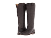 Frye Paige Tall Riding Dark Brown Calf Leather Women's Pull On Boots