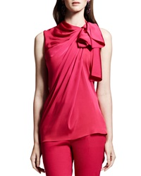 Lanvin Tie Neck Sleeveless Blouse Pink