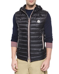 Moncler Naples Quilted Hooded Vest Black