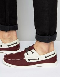Bellfield Bellfiled Boat Shoes Red