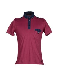 Gold Case By Rocco Fraioli Topwear Polo Shirts Men Garnet