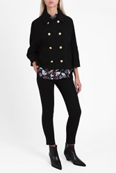 Paul And Joe Wide Sleeve Gold Button Jacket Black