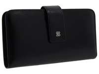 Bosca Old Leather Checkbook Clutch Black Wallet
