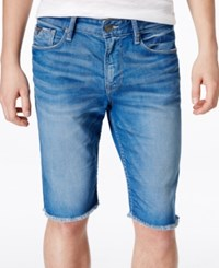 Guess Men's Slim Fit Cutoff Golden Ray Jean Shorts Golden Ray Wash