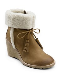 G.H. Bass Tiffany Sherpa Trimmed Boots Chestnut