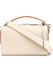 Fendi 'Lei Sellleria Boston' Tote Nude And Neutrals