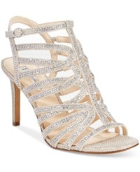 Inc International Concepts Gawdie Caged Sandals Only At Macy's Women's Shoes Pearl Gold