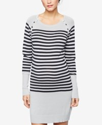 Seraphine Nursing Sweater Dress Grey Stripe
