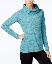 Ideology Fleece Cowl Neck Top Only At Macy's Crystal Mist Space Dye