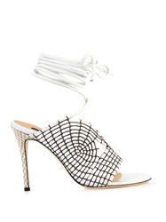 Chrissie Morris Rosemary Lace Up Leather Sandals