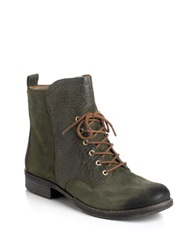 Naya Agave Leather Boots Green