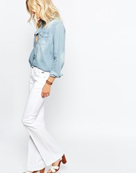 Pepe Jeans Melissa Flare With Front Pocket White