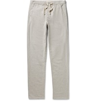 Oliver Spencer Loungewear Lux Cotton Flannel Trousers Gray