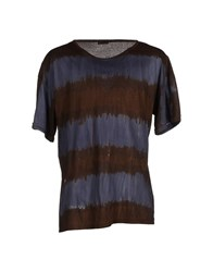 Jijil Topwear T Shirts Men Dark Brown