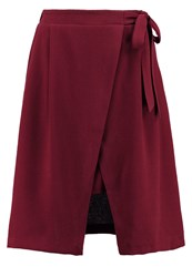 Mintandberry Aline Skirt Windsor Wine Dark Red