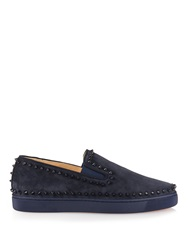 Christian Louboutin Pik Boat Suede Slip On Trainers