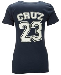 5Th And Ocean Women's Nelson Cruz Seattle Mariners Foil Player T Shirt Navy