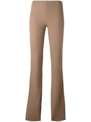 Joseph Straight Leggings Brown